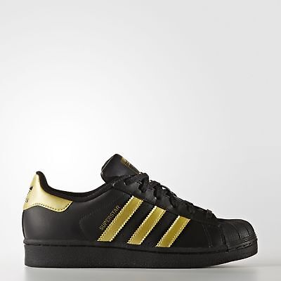 New adidas Originals Superstar Shoes Kids' BB2871 Black Sneakers