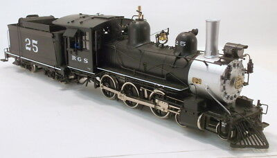 On3 BRASS BLW/GME RIO GRANDE SOUTHERN 4-6-0 MOGUL #25 FACTORY PAINTED SOUND NEW