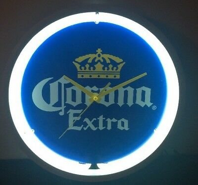 "Corona Extra Beer Neon Clock Lighted Sign 12"" BRAND NEW  Man Cave"