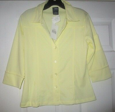 French Toast Girl's School uniform Button Down Shirt  size 16 Solid  Yellow NWT