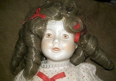Albert Price 1978 Shirley Temple Doll Vintage Red Dot Dress Bisque Porcelain