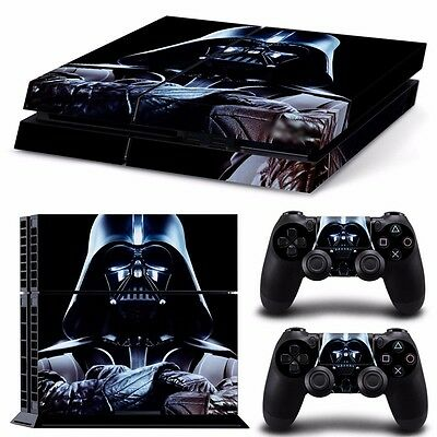 "PS4 playstation console controller skins  ""DARTH VADER"" star wars  Aussie seller"