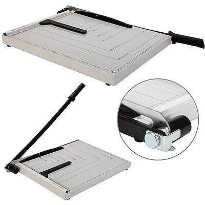 "18""x15"" Paper Cutter Guillotine Blade Metal Base A3 Trimmer Scrap Booking Office"