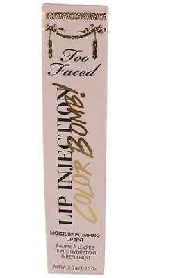 TOO FACED lip injection COLOR BOMB! plumping tint BIGGER  BERRY 3 g .1 oz