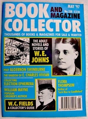 BOOK & MAGAZINE COLLECTOR May 1997 158 WE Johns WC Fields William Mayne Election
