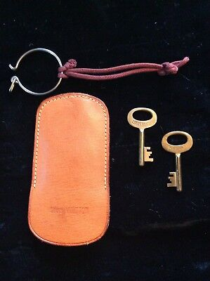 Vintage Louis Vuitton Steamer Trunk Keys with Leather Key Keeper