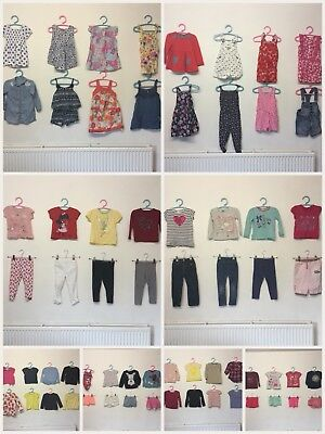 Huge Girls Age 2/3 Clothes Bundle 64 Items Disney Next River Island Mayoral M&S