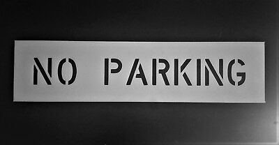 "4"" NO PARKING Professional Grade Parking Lot Striping Stencil 1/8"" LDPE 9 x 37"