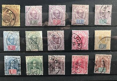 Sarawak Malaysia. Early Selection Of Fine Used Issues. 1871-1918.