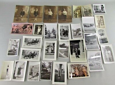 Lot of 30 Vintage Adult People Photos Portrait Family Vacation Travel Home cars