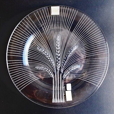 Lalique France, A Frosted Crystal Ears Of Wheat Plate (Baccarat Daum)