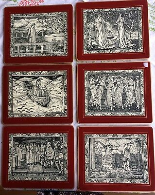 Arts and Crafts Style Pre-Raphaelite Placemats. William Morris. Vintage Box.VGC
