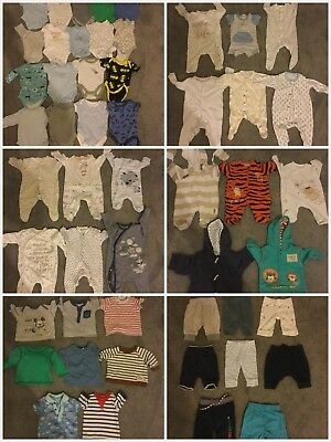 Huge 51 Items Baby Boys Newborn Tiny Baby Up to 1 Month Clothes Bundle