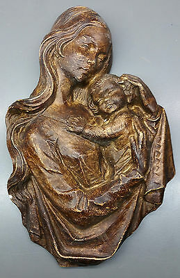 Wall Picture/Wall Relief from Stuck - Mary with Child