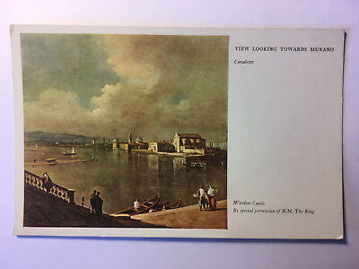 View Looking Towards Murano, Canaletto - Windsor Castle - Old Unposted Postcard