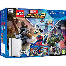 Ps4 Console 500Gb E Chassisslim White + Lego Marvel Sh + Avengers
