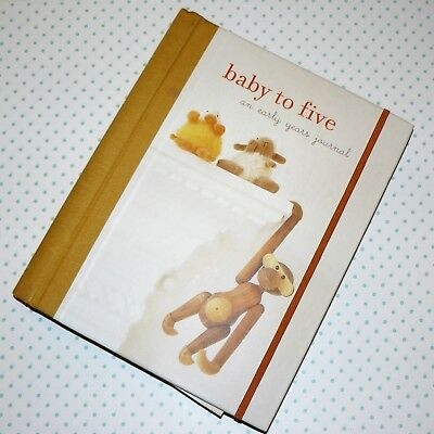 NEW Baby to Five, an early years journal, baby record book, keepsake ,gift.