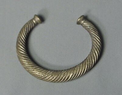 african twisted silver bangle