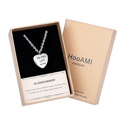HooAMI Cremation Jewelry My Wife My Friend Heart Memorial Urn Necklace