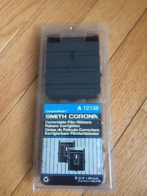 Smith Corona A12138 Typewriter Correctable Film Ribbons UNOPENED Dual Pack