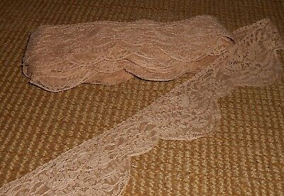Vintage machine made Lace trim 365 inches Ca 1940's