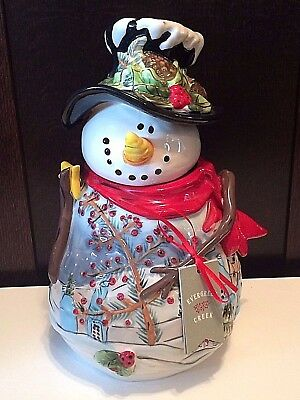 Blue Sky Snowman Cookie Jar Christmas Cookies
