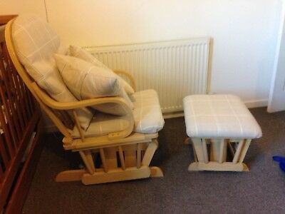 Dutailier Glider Chair And Stool Nursing Chair