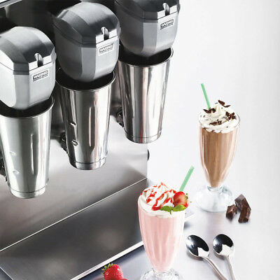 New commercial heavy duty metal triple spindle milkshake machine