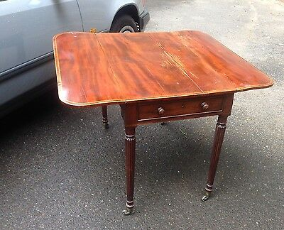 Regency Mahogany Folding Tea Table