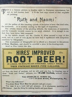 "Antique trading card "":Hires' Root beer"" advertising a European lithograph early"