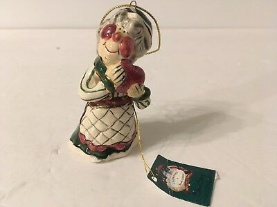 Mrs Claus Christmas Ornament Heather Goldminc 2001 Blue Sky Clayworks