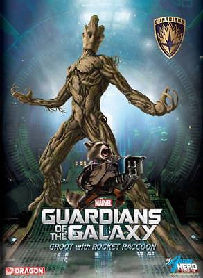 Dragon Models Vignette Guardians Of The Galaxy Groot with Rocket Raccoon Statue