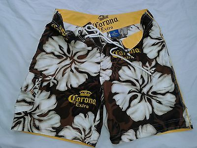 Corona Extra Beer Mexico Surf Beach Pool Official Board Shorts L Large 34