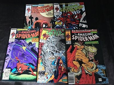 Lot Of 5 The Amazing Spider-Man Comic Books #305 #308 #317 #324 #328
