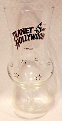 Planet Hollywood CANCUN Hurricane Glass EUC  - no chips or faded logo