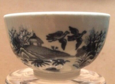 First Period Worcester Blue And White Tea Bowl