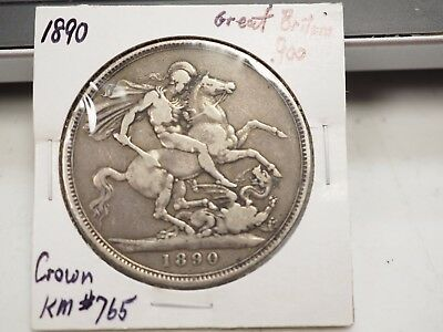 1890 Great Britain Silver Crown KM# 765