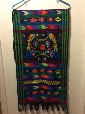 Primitive Mexican tapestry/ scarf