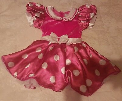 Disney Store Girls Minnie Mouse Fancy Dress Costume! Excellent Cond! Age 2-3