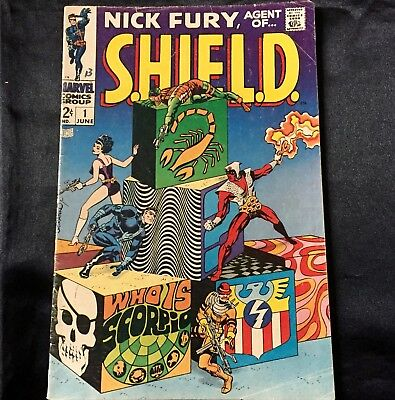 Nick Fury, Agent Of S.h.i.e.l.d #1 (Marvel, 1968) Silver Age Early Issue!!!!!!