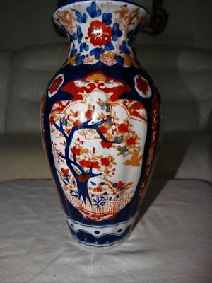 LARGE ANTIQUE JAPANESE HAND PAINTED IMARI VASE,COLLECTABLE c1900 -20.
