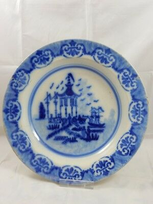 An Early? Blue White Charger / Bowl /Dish - Oriental Style - Tin Glaze? - NR