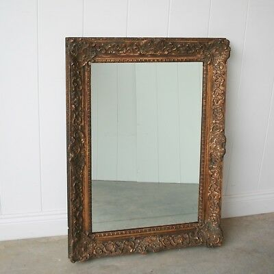 LARGE Antique Mirror in French 18th Century Georgian Frame c1750