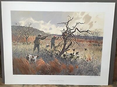 """Clay County Covey"" Ltd. Ed. Signed Print by John P. Cowan (215/1000) 31 1/2 x 2"