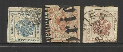 Austria Osterreich ~ 1853-1890 Imperial Journal Stamps (Used) Imperf.