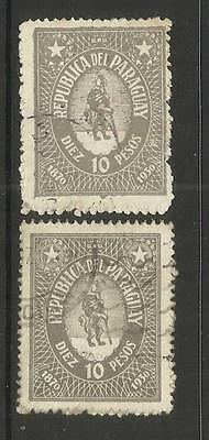 PARAGUAY ~ 1931 FIRST PARAGUAY POSTAGE STAMPS 60th ANNIV. (10P GREY)