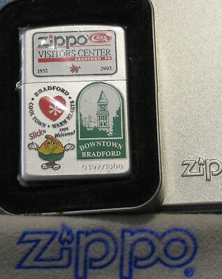 ZIPPO  70TH  Lighter VISITORS CENTER Limited 397/1000 DOWNTOWN BRADFORD Sealed
