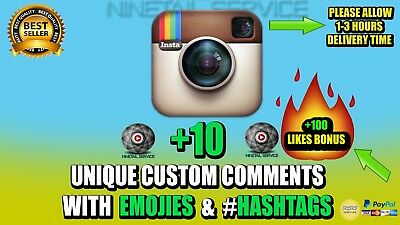 INSTAGRAM CUSTOM-COMMENTS■■■Ninetail service■■■*HIGH QUALITY*