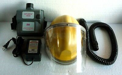 3M Air-Mate Powered Air-Purifying Respirator Complete + Helmet Shield + Charger