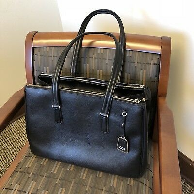 Tumi Gently Used Black Sinclair Ana Large Double Zip Carryall Business Tote